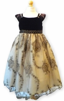 Biscotti Dresses- Holiday Brown and Gold Velvet Dress- Only sizes 2T & 5 only