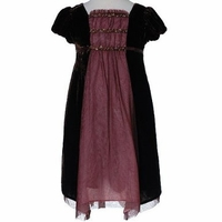 Biscotti Dresses- Holiday Dress - Brown Velvet - Only a size 3T left!