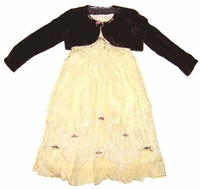 Biscotti Dresses- Ivory Dress with Brown Shrug 2-Piece Set- Sizes 3T and 4T