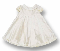 Biscotti Dresses * Ivory Silk Dress* with Cap Sleeves and Audrey Hepburn Neckline - SOLDOUT