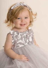 Biscotti Dresses *La Belle Fleur* Silver Tulle Dress with Amazing Shrug 2-Piece Set