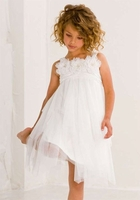 Biscotti Dresses *Ode to Love* Layered Dress - Diamond White and Rose Pink -Sizes 4 to 12