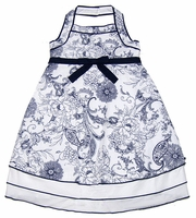 Biscotti Dresses *Out of the Blue* Navy Toile Dress -Size 5