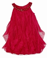 Biscotti Dresses *Runway Ready* Burgundy Red Netted Dress -size 6 and 6x
