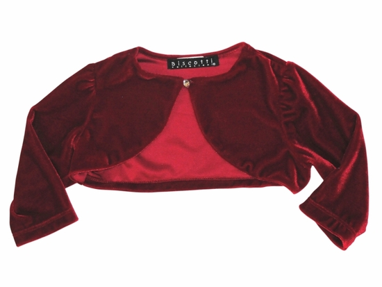 "Biscotti Dresses ""Runway Ready"" Sweet Red Velvet Shrug-"