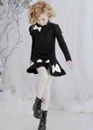 Biscotti Dresses *Sweater Dressing* Lovely Black Dress with Ribbon