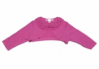 Biscotti Dresses- Toddler  Pink Ruffled Neckline Shrug / Bolero Sizes 9m - 3T
