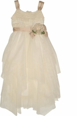 Biscotti Fairytale Romance Dress, Ivory-4 to 6x