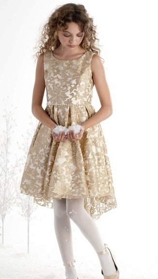 Biscotti Girl's -Royal Treatment High-Low Dress