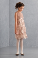 Biscotti Girls-Good as Gold Dress- Size 7 only