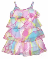 Biscotti Girls Pink / Blue Pool Party Size 8