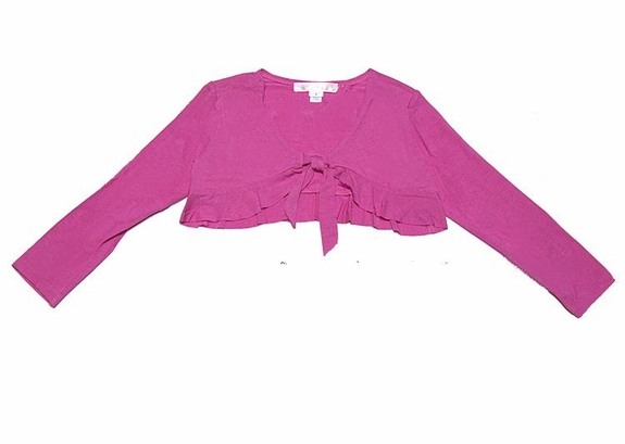 Biscotti Girls *Pink Ruffled Balero/Shrug* Sizes 7 - 14
