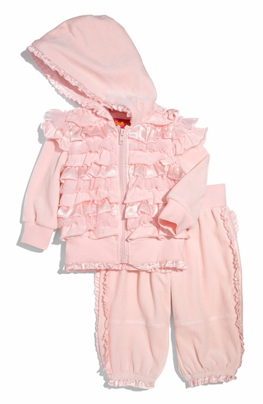 Biscotti Ruffled Hoodie & Pants Set (Infant)-Sizes 6m-9m-18m-Left Only!