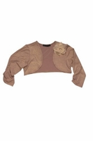 Biscotti *Shimmering Rose* Gold Knit Shrug Sizes 7-16