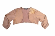 Biscotti *Time to Sparkel* Gold Knit Shrug -Sizes 4 to 16