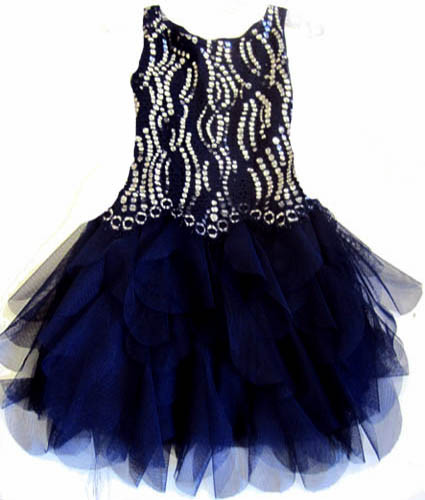 Biscotti Shooting Stars Dress - Navy 8-10