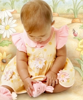 bunniesbythebay *SugarDaisySundress* 3-12m