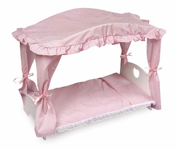 Canopy Doll Bed -with bedding included