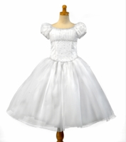 Christie Helene - Communion Dress- *A0843A* Organza with crystals