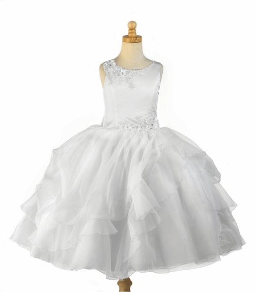 Christie Helene - Communion Dress *P1128* Satin and Organza