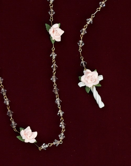 Communion Crystal Rosary-Beads- Imported from Italy