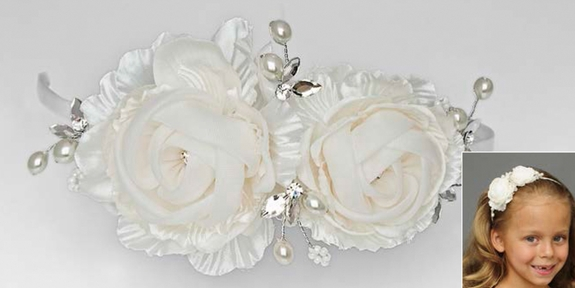Communion-Flower Girl Head Piece -Bouquet Headband