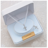 Communion Seed Pearl Pendant Set
