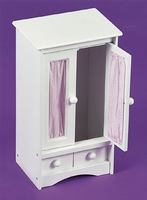 Doll Armoire w/Three Hangers