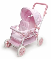 Folding Double Doll Front-to-Back Stroller