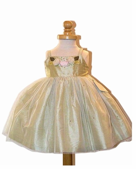 Hand Made Silk with tulle,Size 6m -6x