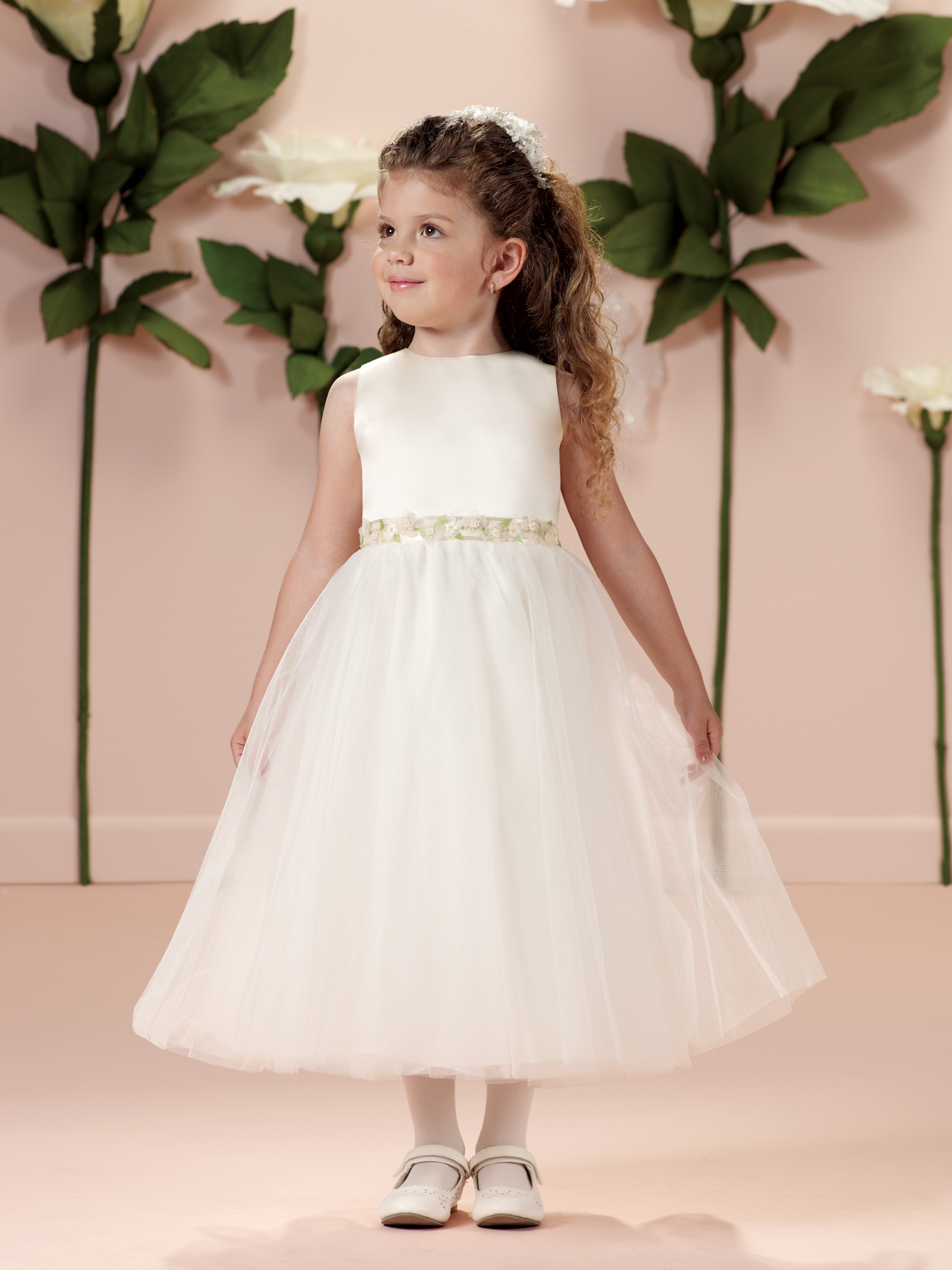 6bf81f42a80 Joan Calabrese  114330  Flower Girl Dress -Lavender-Ivory and Spun Gold