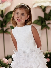 Joan-Calabrese *114337* Sleeveless Satin and Lace -