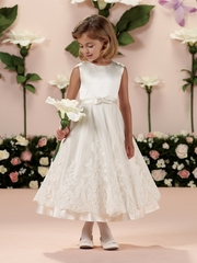 Joan Calabrese-*114341* Sleeveless Satin and Tulle