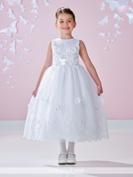 Joan Calabrese-117336 Communion Dress Satin and Tulle