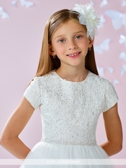 Joan Calabrese- 117349 Communion Dress Lace and Tulle