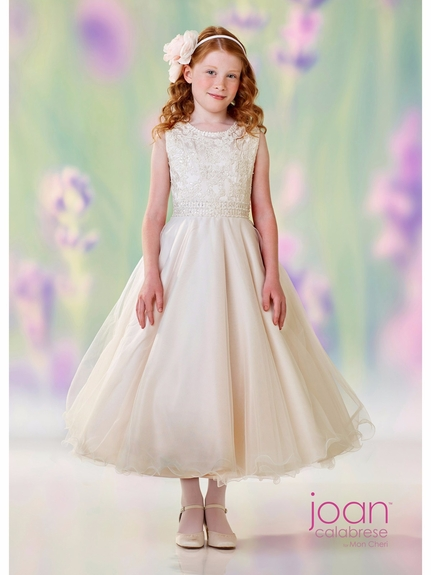 Joan Calabrese - 118302 -Lovely in White for Communion-Also available in Half Sizes