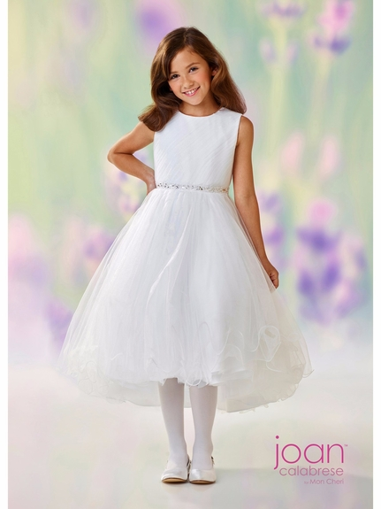 Joan Calabrese-118307- Communion/Flower Girl -Sleeveless satin and tulle