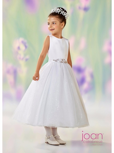 Joan Calabrese-118308 Communion/Flower Girl Dress-Half Sizes available-White