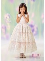 Joan Calabrese-118309 Communion/Flower Girl -Satin & Lace-Color selections