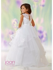 Joan Calabrese-118310 Communion/Flower Girl -Satin and Tulle-Color Selections
