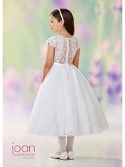 Joan Calabrese-118311 Communion/Flower Girl- Satin,Tulle,Sequin & Lace. White Only