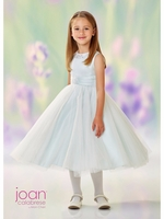 Joan Calabrese-118312 Communion/Flower Girl Satin & Tulle-Half Sizes -Color Selection