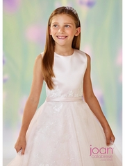 Joan Calabrese -118319-Communion Dress-Satin & Lace