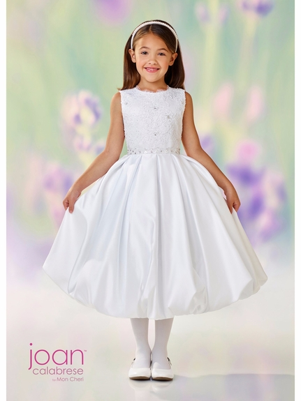 Joan Calabrese-118324-Communion Dress-Satin & Lace