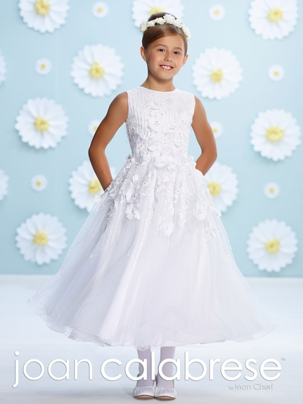 Joan Calabrese Communion Dress-116387-Satin and Tulle