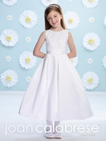 Joan Calabrese-Communion Dress 116392 -Satin with Hand Beading