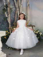 Joan Calabrese-Communion Dress *Tulle,  Satin & Taffeta*-112309