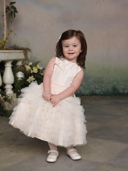 Joan Calabrese -Flower Girl Dress*Taffeta & Tulle* Sizes 12m to 16