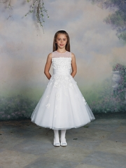 Joan Calabrese -Flower Girl Dress-*Tulle,Satin & Lace*