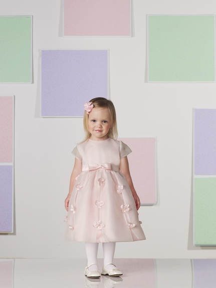 Joan Calabrese for Mon Cheri *Center Bow Flower Girl Dress*
